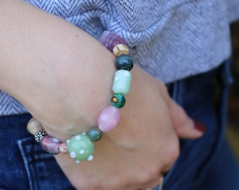 Chunky multi-colored Bracelet