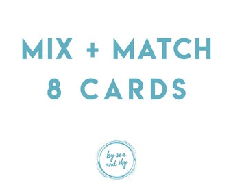 Greeting Card Bundle Deal, Eight Cards Bundle, long distance boyfriend gift, boyfriend gift, long distance boyfriend card