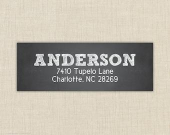 Return Address Labels, Return address stickers, return address, return address label stickers, Chalkboard return address label