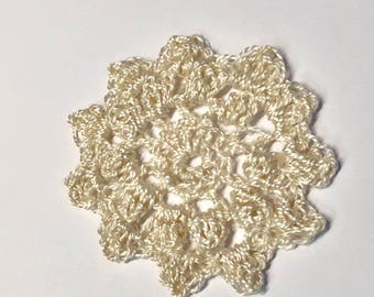 Small Silk Flower Motif Crochet Lace Ready to Ship