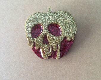 Mini poison apple brooch