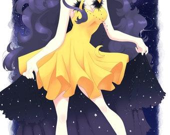 Sailor Moon Inspired Luna Print
