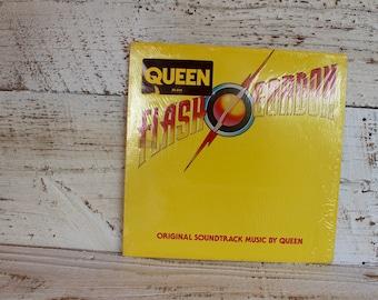 Queen Flash Gordon Vintage Vinyl Soundtrack 80s Rock Music Elektra Asylum Records Vinyl Record Gift for Rock Music Lovers Retro Gifts
