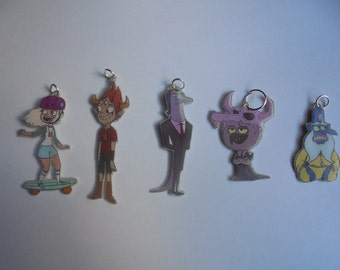 Star vs the Forces of Evil-Jackie Lynn Thomas,Ludo,Glossaryck,Tom,Toffee- Silver Necklace - Tattoo Necklace - Keychains-Movile Strap-Lanyard