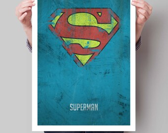 Superhero Poster, Superheroes, Superhero Wall Art, Distressed Art Print, Kids Poster, Superhero Art Print, Bedroom Decor, Kids Wall Art.