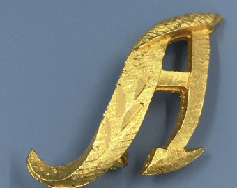 Mamselle Letter A Brooch Pin