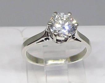 Diamond Solitaire Engagement Ring Vintage