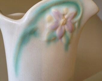 Weller Bouquet Vintage Art Pottery Vase//Matte White// 2 Identical Perfect Vases Available