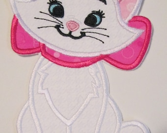 Kitty Cat - Iron On or Sew On Embroidered Applique
