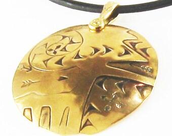 Aztec Sun Spirit Pendant Gift - Handmade Southwest Tribal Pendant - Sunny Del Sol Aztec Pendant - Matching Del Sol Earrings