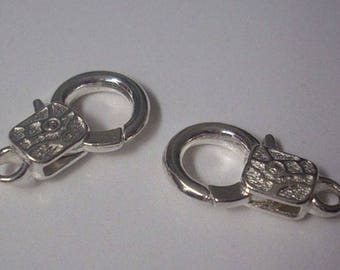 2 X 23 x 14 silver lobster clasps