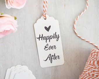 Happily Ever After Stamp | Valentines Stamp - Wedding Stamp - Wedding Quote - Romantic Sentiment - Heart Stamp