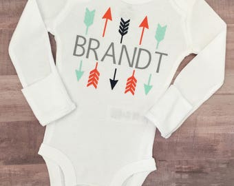 Personalized Arrow Onesie   baby boy   baby boy clothes   Baby Boy Onesie   Coming Home Outfit   baby gift   baby bodysuit   baby boy gift