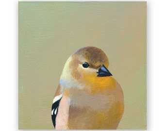 Goldfinch - 6 x 6 Wings on Wood Decor