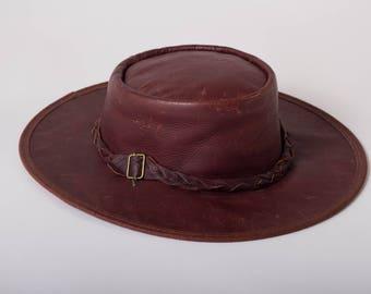 Aussie Leather Hat