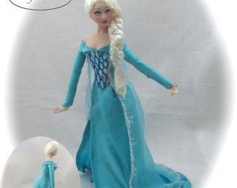 Dollhouse Doll ELSA Doll Pattern and Instructions PDF Miniature 1:12 Scale Instant Download Frozen (Beginner) Magic Disney Princess