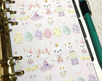 Planner Dashboard. Easter Dashboard. For A5, Personal, Pocket and A6 ring planner. Easter Bunnies and Easter Eggs