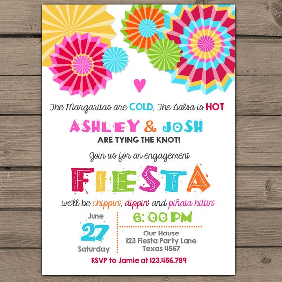 Engagement Party Invitation Fiesta Invite