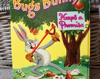 Vintage Bugs Bunny Keeps A Promise A Big Television Book,  Warner Bros, Cartoons,  Retro, TV Memorabilia, Collectibles, Gift, Brother,Sister