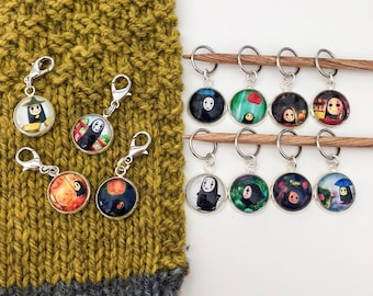 No Face Stitch Markers, Progress Keepers
