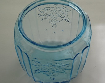 Blue Mayfair Open Rose Cookie Jar Bottom No Lid