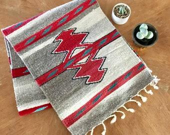 Wool Table Runner, Tribal Design Runner, Native American Runner, Southwest Table Runner, Wool Tribal Runner, Wool Tapestry, Native American