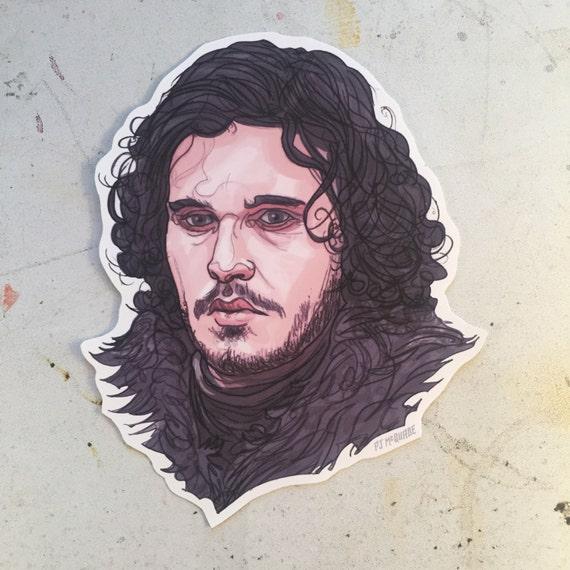 Jon snow sticker game of thrones