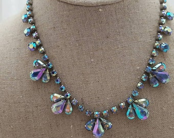 Vintage Iridescent Costume Jewelry Prom Wedding Homecoming  FREE SHIPPING