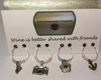 Selection of Wine Glass Charms, Dinner Parties, Party