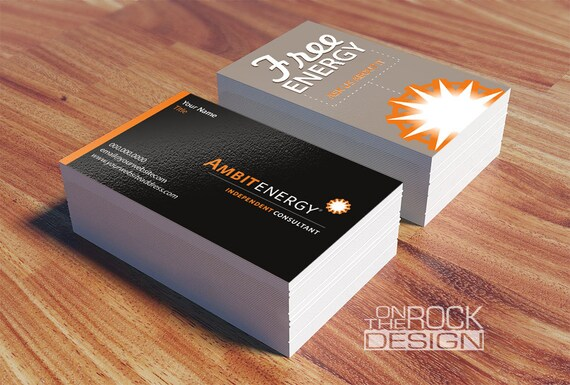 Custom ambit energy business cards digital file or printing like this item reheart Gallery