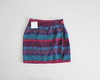 mini skirt | southwestern skirt | mini wrap skirt