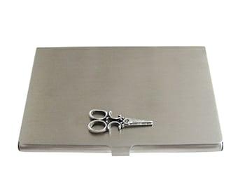 Textured Scissor Business Card Holder