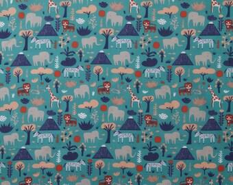 fabric, animal, Africa, lion, GIRAFFE, elephant, children, fabric, Scandinavian style