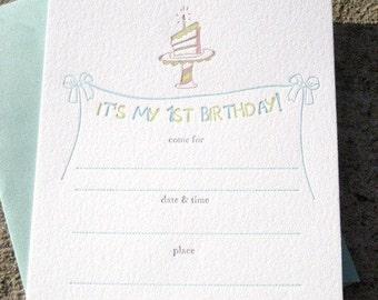 SALE My 1st Birthday-QTY//8