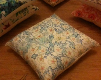 Pin cushion, handmade with Liberty fabrics