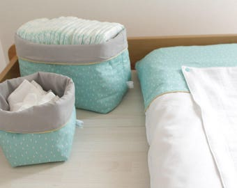 Storage baskets - reversible - quilted layers range layers - fabric baskets