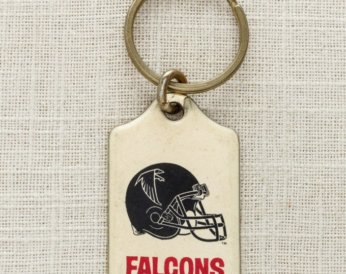 Vintage Atlanta Falcons Keychain FOB NFL Football Brass Key Chain NFC South Dan Blank Souvenir Gift Metal Football Helmet 6KC