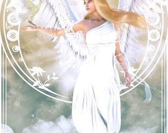 "Angel of the Dawn 12 x 18"" Print"