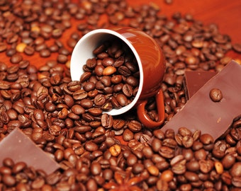 Coffee Chocolate Mint Flavored Coffee 8 ounces Whole Bean or Ground free