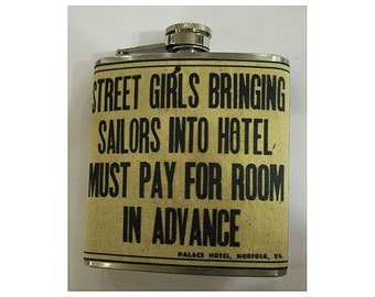 street girls and sailors flask retro  vintage pin up rockabilly sleaze