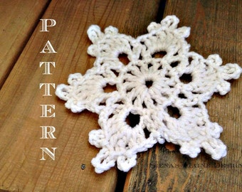 Simple and Easy Crochet Snowflake Pattern, Crochet Pattern, Snowflake Decorations,