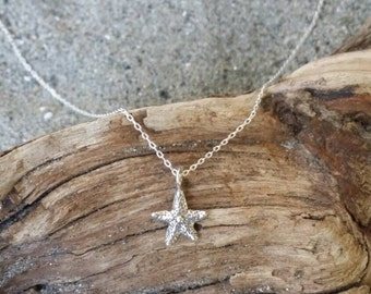 Tiny Starfish, Sterling Silver, Tiny Pendant