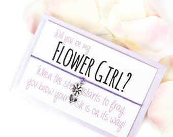 Will you be my Flower Girl - Will you be my Flowergirl - Flower Girl Bracelet - Flower Girl - Flower Girl Gift - Flower Girl Charm