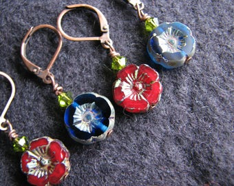 Stitch markers knitting | crochet | spring | flowers | glass | handmade | stitch jewelry