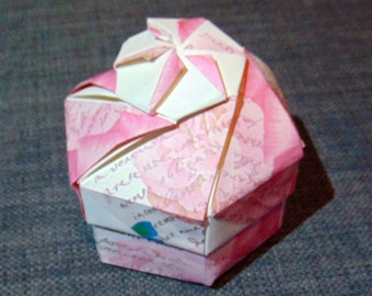 hexagonal box romantic rose