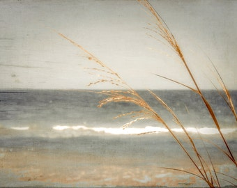 Blue Sea, warm cream tones, browns, golds,fine art photography 8x12