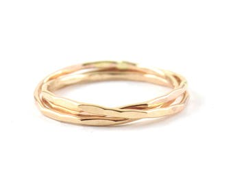 Russian wedding ring -  rolling rings -  interlocking ring -  intertwined ring -  gold filled rolling ring
