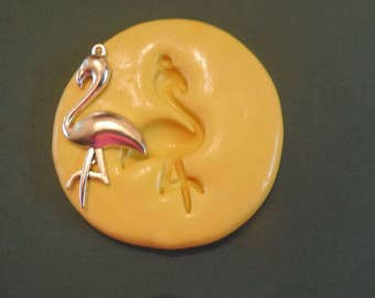 Flamingo Mold, silicone mold, craft mold, porcelain, resin, jewelry mold, food mold, pop up mold, clays mold, flexible, charms
