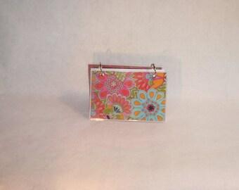 Index Card Binder 4 x 6, Index Card Holder, Personalized Flashcard Holder, Recipe Book, Laminated Note Card Binder, Blank Journal