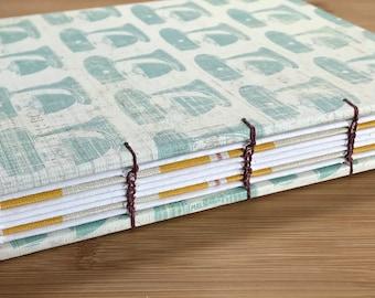 Handmade Hardcover Coptic Stitch Writing & Sketching Journal/Sketchbook/Diary/Notebook/Recipe book/Culinary Gift Basket/Art Journal